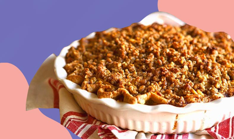 Apple pie with walnut crumble from Café Mary Grace