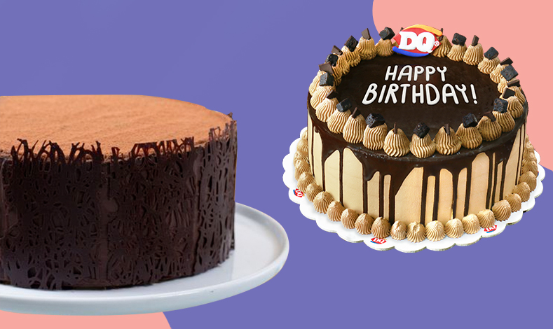 Chocolate Obsession cake from Conti's Bakeshop And Restaurant and Chocolate Extreme 8″ Blizzard Cake from Dairy Queen