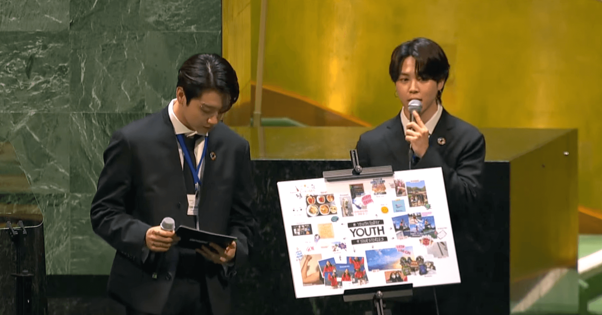 Jungkook and Jimin speaks at the UN General Assembly